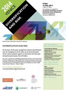 diversification and risk - venice 2014 workshop